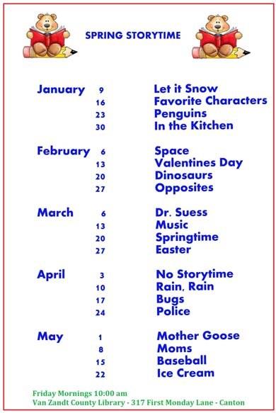 Spring Storytime 2015